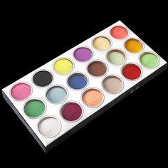 Unhas de acrílico pó líquido 18 Diy colorido Set poeira para 3d Art Mold colorido escultura em pó alishoppbrasil