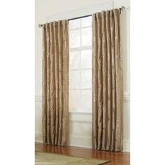 Allen Roth Belleville 84 In L Room Darkening Sand Thermal Back Tab Window  Curtain  Allen Roth Curtains
