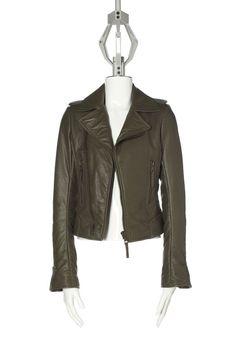 Balenciaga - Classic Biker Jacket, in khaki lambskin, €1695