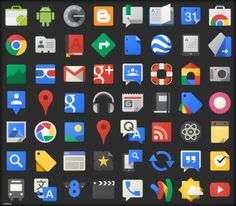 The Google Icons : Free Vector Site