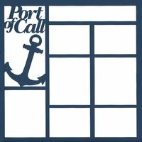 Port Of Call 12 x 12 Overlay Laser Die Cut - * 12 x Smallest box is roughly x Largest box is roughly x . Cruise Scrapbook Pages, Vacation Scrapbook, Scrapbook Titles, Scrapbook Templates, Scrapbook Sketches, Scrapbooking Layouts, Digital Scrapbooking, Swim Lessons, Alaska Cruise