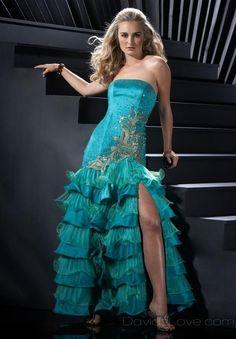 A-Line Strapless Long Satin Prom Dress