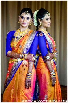LOVE this color combo!!!!! South Indian Bridal look