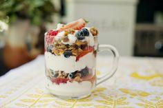 Mixed Berry Parfait with Walnut Coconut Granola