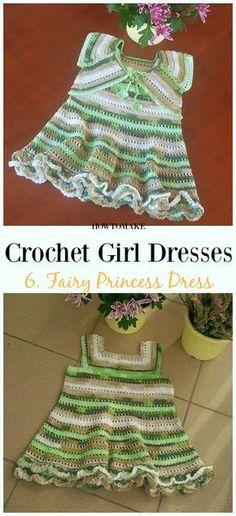Crochet Fairy Princess Dress Free Pattern - Girl #Dress Free #Crochet Patterns