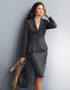 Classic pin striped suit.