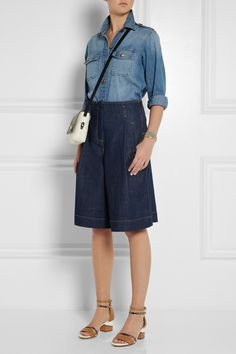 BOTTOMS | See By Chloe Denim Culottes