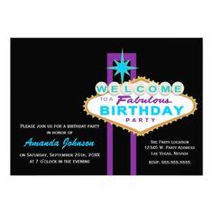 356 Best Las Vegas Birthday Party Invitations Images In 2019 Vegas
