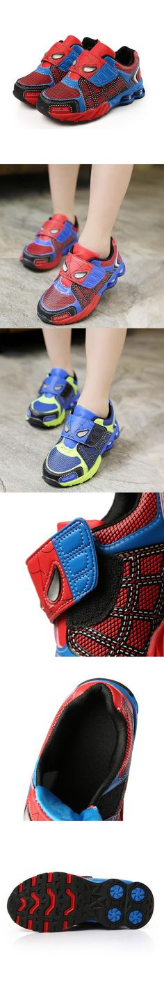 Children Shoes 2016 new Autumn Winter Casual Girls Boys Spiderman Shoes Sports…