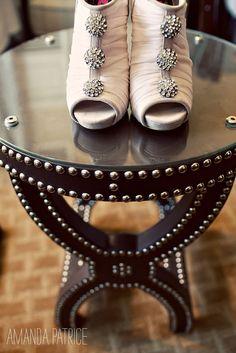 Betsy Johnson wedding shoes (by Amanda Patrice)