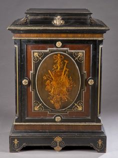 19th century Napoleon III ebonized cabinet. : Lot 42