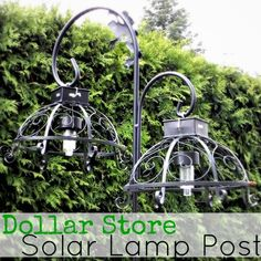 Pinterest Outdoor Crafts | Garden Ideas and Crafts / Dollar Store Solar Lights Turned Outdoor ...