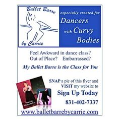 Welcome!BalletBarre by Carrie™ especially created for dancers with curvy bodies! My new class. Offering local and online training. visit balletbarrebycarr... and sign up for my BalletBarre Stretch Video Link.