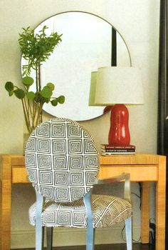 picture a blue version of this chair.....Quadrille, China Seas, Alan Campbell, Home Couture
