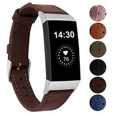 13 Best Bands for Fitbit Charge 3 in 2020 Leather Wristbands, Fitbit Charge, Fitness Tracker, Chocolate Brown, Cool Bands, Apple Watch, Smart Watch, Metal, Classic
