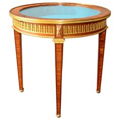 19th Century Empire Vitrine Table | From a unique collection of antique and modern vitrines at http://www.1stdibs.com/furniture/storage-case-pieces/vitrines/