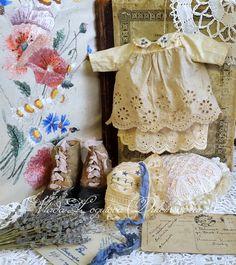 Doll's dress by Dulcineabears. Dress for teddy bear.
