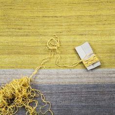 Field vloerkleed - geel-grijs - Brita Sweden