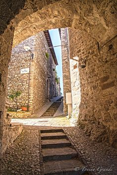 Steep Streets in Arrone, Umbria, Italy