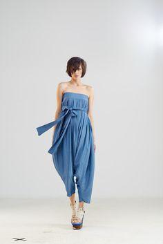 Frauen Overalls, Blaue Jumpsuit, Baumwoll Jumpsuit von Maria Queen Maria auf DaWanda.com