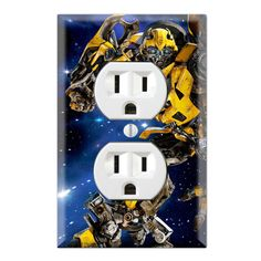 Bumblebee Decorative Duplex Receptacle Outlet Wall Plate Cover TR02B