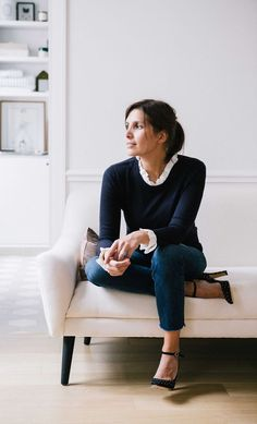 The founder of chic Parisian label Sezane talks us through how to get through summer like a French woman Style Désinvolte Chic, Parisian Chic Style, Mode Style, Parisian Fashion, French Chic Fashion, French Chic Clothes, French Fashion Styles, French Clothing Styles, French Chic Outfits