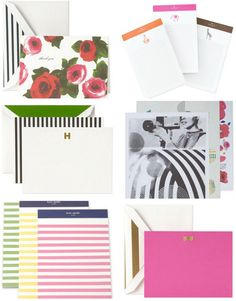 Well what do you know... seems Kate Spade is expanding their paper line a wee bit and I'm tickled pink about it. I love their classic Spade motif, their stripes