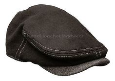 STETSON WOOL BLACK IVY CAP NEWSBOY GREY MEN GATSBY HAT GOLF FLAT CABBIE DRIVING