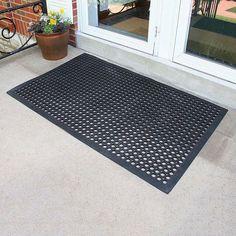 Buffalo Tools 2 x 3-ft. Industrial Rubber Floor Mat, Black