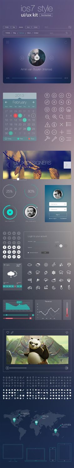 Beautiful style UI kit with high quality web design elements and icons for any web related projects. Today's we bring yet another creative user interface Gui Interface, User Interface Design, Mobile Ui Design, Ui Ux Design, Flat Design, Graphic Design, Birthday Gif Funny, Happy Birthday, Material Design