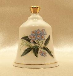 Vintage Collector's Danbury Mint State Flower Bell Alaska Forget Me Not