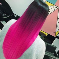 75 Beautiful Hot Pink Hair Color Ideas to Makes You Looks Stunning - Aksahin Jewelry Pink Ombre Hair, Hot Pink Hair, Hair Color Pink, Hair Dye Colors, Cool Hair Color, Red Purple Hair, Bright Hair Colors, Black Hair, Beautiful Hair Color