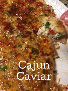 Cajun Caviar, the best appetizer for a Southern get together - Best Appetizers Cajun Appetizers, Yummy Appetizers, Appetizers For Party, Cajun Desserts, Southern Appetizers, Party Dips, Southern Food, Appetizer Dips, Mardi Gras Appetizers