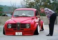 Slammed old school Saab. Saab Automobile, Saab Turbo, Super Images, Saab 900, Small Cars, Retro Cars, Fiat 500, Slammed, Car Car