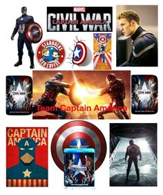 """Team Captain America"" by madder-than-the-hatter ❤ liked on Polyvore featuring art, contestentry and CaptainAmericaCivilWar"