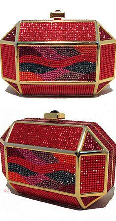 Judith Leiber ● Vintage Red Swarovski Crystal Minaudiere
