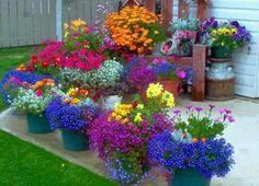 Eenvoudig fleurig en kleurig.