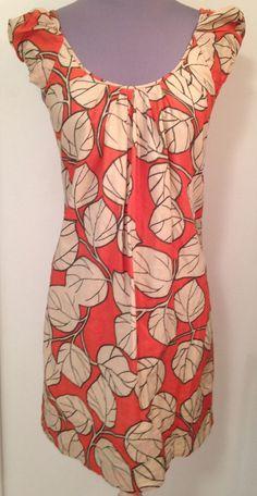 7672166cc9 DIANE VON FURSTENBERG size 2 Gambier dress in orange mangrove leaf flame   DianeVonFurstenberg  Sheath