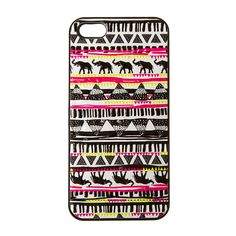 Add some tribal flair to your look with this elephant and pyramid patterned cell phone case for iphone 5 and 5s. The cover features rows of tribal style elephants and triangles with pops of neon pink and neon yellow color.