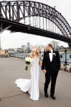 Stunning flower filled black tie wedding with the wedding dress by J'Aton, held in Sydney Traditional Gowns, Traditional Wedding Dresses, Polka Dot Wedding, Black Tie Wedding, Wedding Goals, Wedding Bride, J Aton Couture, Alan White, Bridal Table