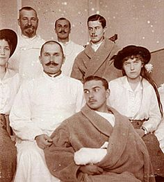 Maria and Anastasia with Wounded Officers