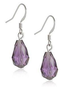 Purple Mix Pear Drop Earrings