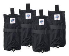 E-Z Up Instant Shelters Deluxe Weight Bags - Set of 4 by E-Z UP. $63.19. Weight bags hold 40 lbs. of sand and attach easily to each leg with quick release pins (included). Works on hard or soft surfaces. Black only. Set of four. Set of 4 Weight Bags to help secure your Shelter when stakes are not an option!. E-Z Up Instant Shelters Deluxe Weight Bags. Weight bags hold 40 lbs. of sand and attach easily to each leg with quick release pins (included). Works on hard or soft surf...