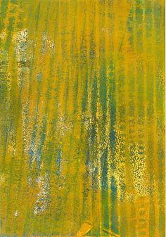 No.16 Yellow/Blue Bars, acrylic monoprint 2015