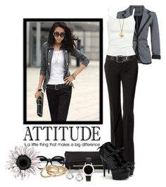 """""""Attitude"""" by deborah-simmons ❤ liked on Polyvore featuring Full Tilt, Theory, Brahmin, Marni, Kendra Scott, Amanda Pearl, Marc by Marc Jacobs and Danielle Stevens Jewelry"""