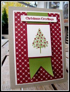jussis-papierwelt: Weihnachtlich geht es weiter...Stampin up! Weihnachtskarte