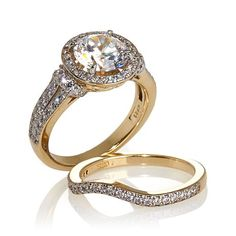Shop 2.88ct Absolute™ Round with Pavé Sides 2-piece Ring Set, read customer reviews and more at HSN.com.