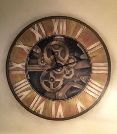 Painted clock mural really works