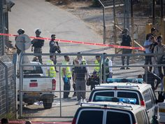 Israeli police and medical services say an attacker has opened fire at the entrance to a town outside Jerusalem, killing three Israelis.
