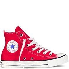 44ca309ceba9 Converse All Star Unisex Chuck Taylor Mens Womens High Hi Tops Trainers  Pumps Converse Rouge